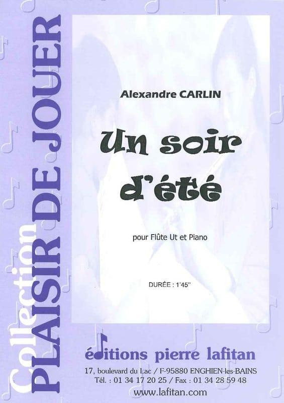 Alexandre Carlin - A Summer Evening - Partition - di-arezzo.co.uk