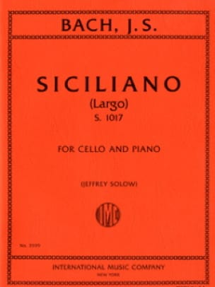 BACH - Siciliano Largo S.1017 - Partition - di-arezzo.com