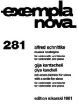 Musica Nostalgicas - SCHNITTKE - Partition - laflutedepan.com