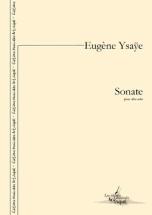 Sonate - Eugène Ysaÿe - Partition - Alto - laflutedepan.com