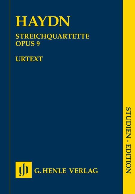 Streichquartette op. 9 -Partitur - HAYDN - laflutedepan.com