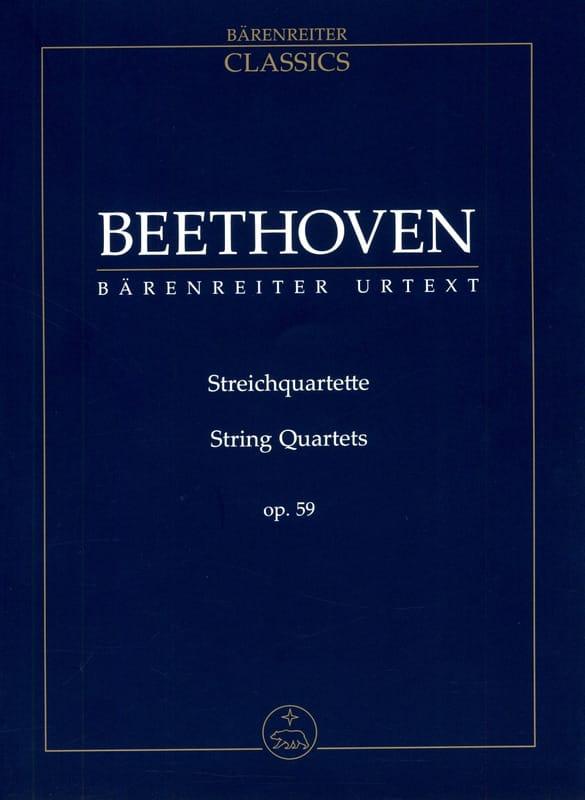 Streichquartette Op. 59 - BEETHOVEN - Partition - laflutedepan.com