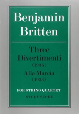 3 Divertimenti and Alla Marcia - BRITTEN - laflutedepan.com