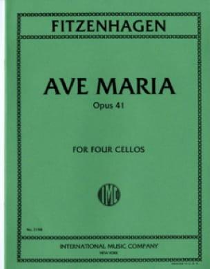 Ave Maria Op.41 - Wilhelm K. F. Fitzenhagen - laflutedepan.com