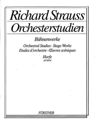 Orchesterstudien -Harfe - Richard Strauss - laflutedepan.com