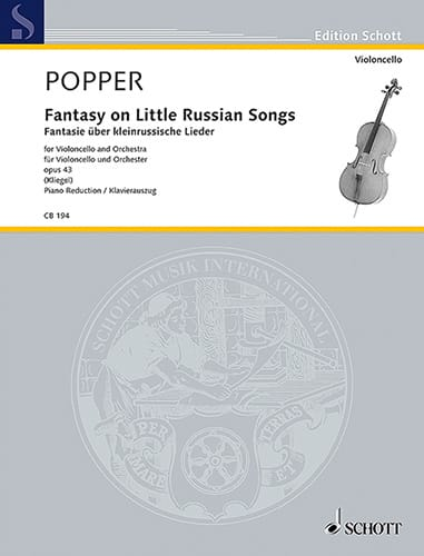David Popper - Fantasy On Little Russian Songs Op.43 - Partition - di-arezzo.co.uk