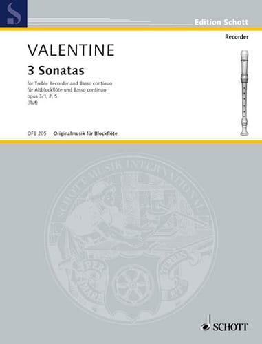 Robert Valentine - 3 Op.3 Sonatas No. 1-2 and 5 - Partition - di-arezzo.com