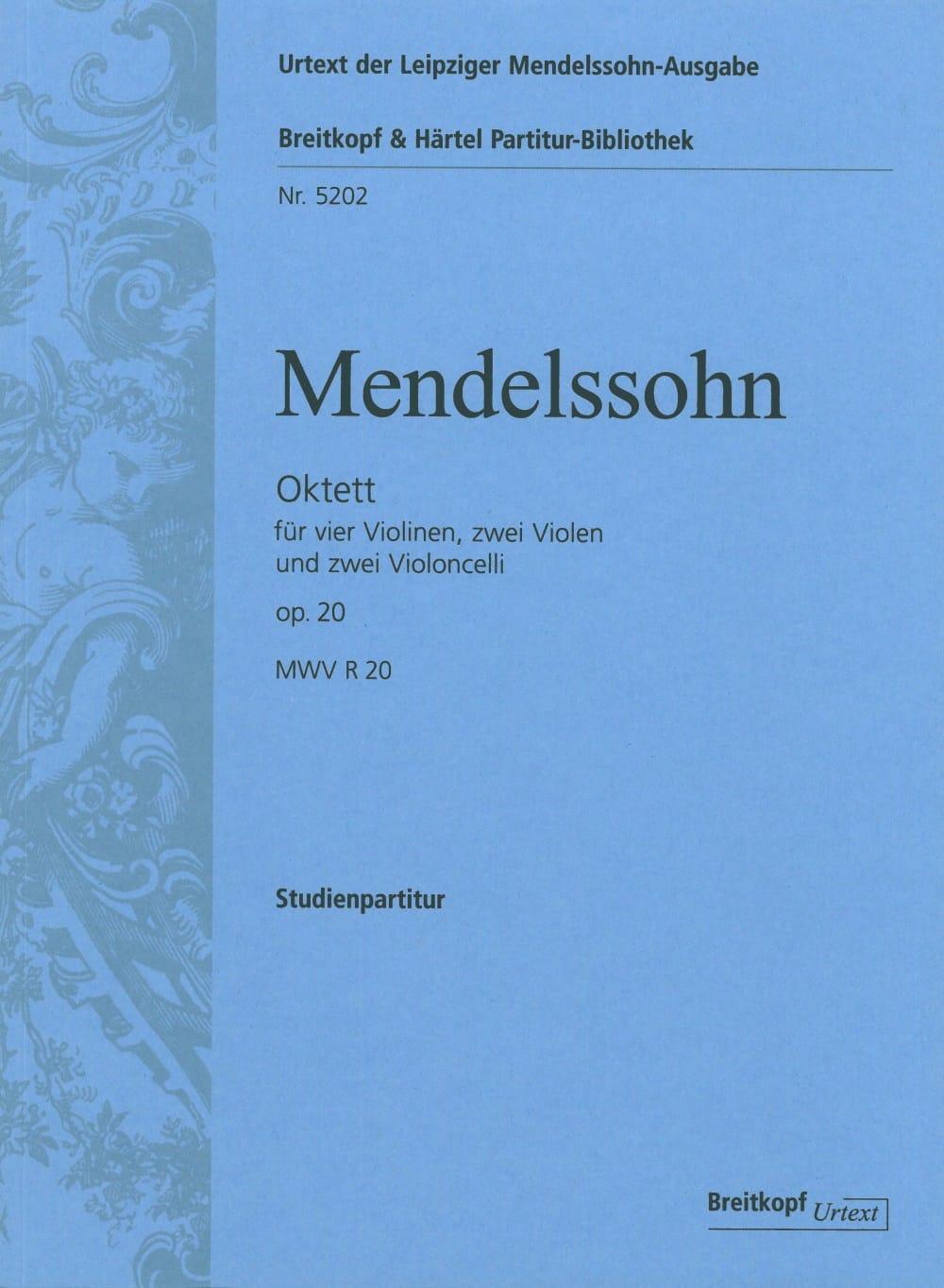MENDELSSOHN - Octuor op. 20 - Driver - Partition - di-arezzo.com