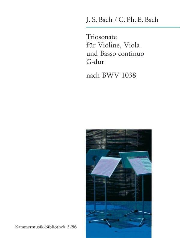Triosonate Sol Maj. D'après Bwv 1038 - laflutedepan.com
