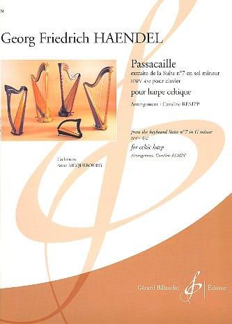 HAENDEL - Passacaille - Celtic Harp - Partition - di-arezzo.co.uk