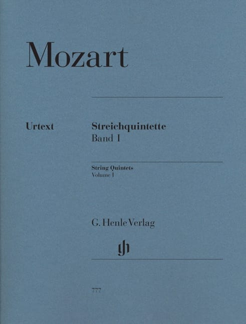 MOZART - String Quintets, Volume 1 - Partition - di-arezzo.co.uk