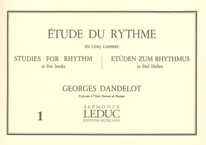 DANDELOT - Study of the Rhythm Volume 1 - Partition - di-arezzo.com