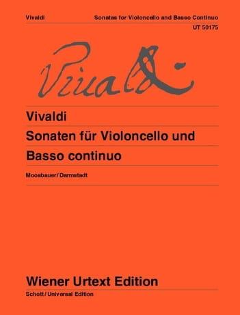 VIVALDI - Sonatas for cello and basso continuo - Partition - di-arezzo.com