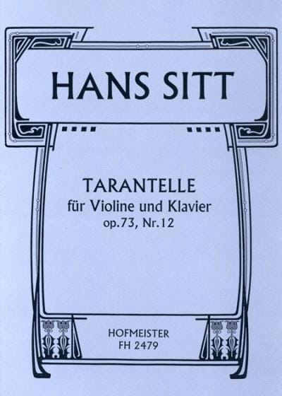 Hans Sitt - Tarantella Op.73 N ° 12 - Partition - di-arezzo.co.uk