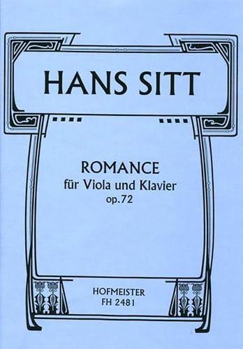 Hans Sitt - Romance Op.72 - Partition - di-arezzo.co.uk