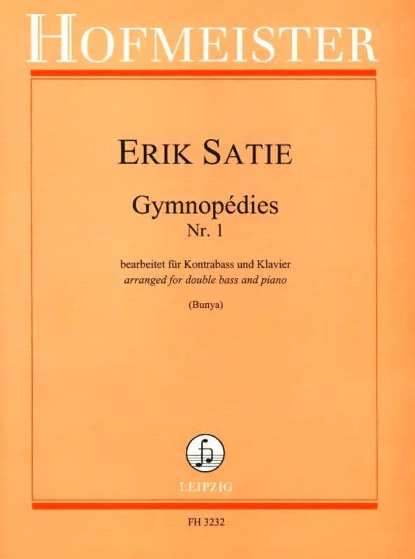 Gymnopédies N°1 - SATIE - Partition - Contrebasse - laflutedepan.com
