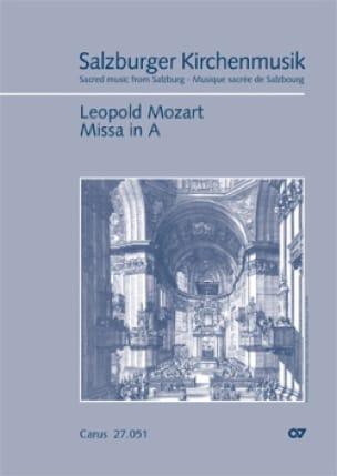 Leopold Mozart - Messe En La - Partition - di-arezzo.fr