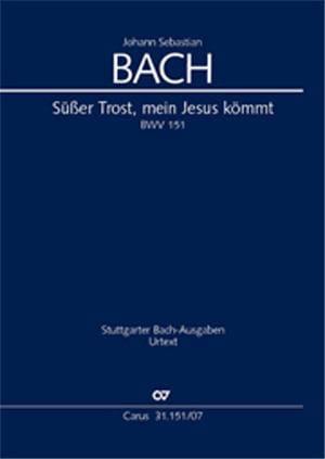 Cantate Süsser Trost, Meine Jesus Kömmt BWV 151 - laflutedepan.com
