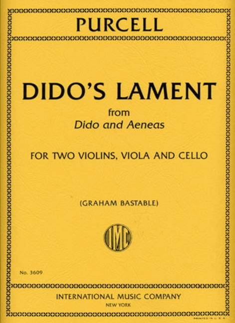 Henry Purcell - Dido's Lament - Partition - di-arezzo.co.uk