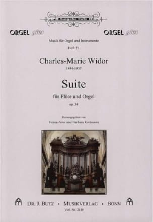 Charles-Marie Widor - Suite Op. 34 for Flute and Organ - Partition - di-arezzo.co.uk