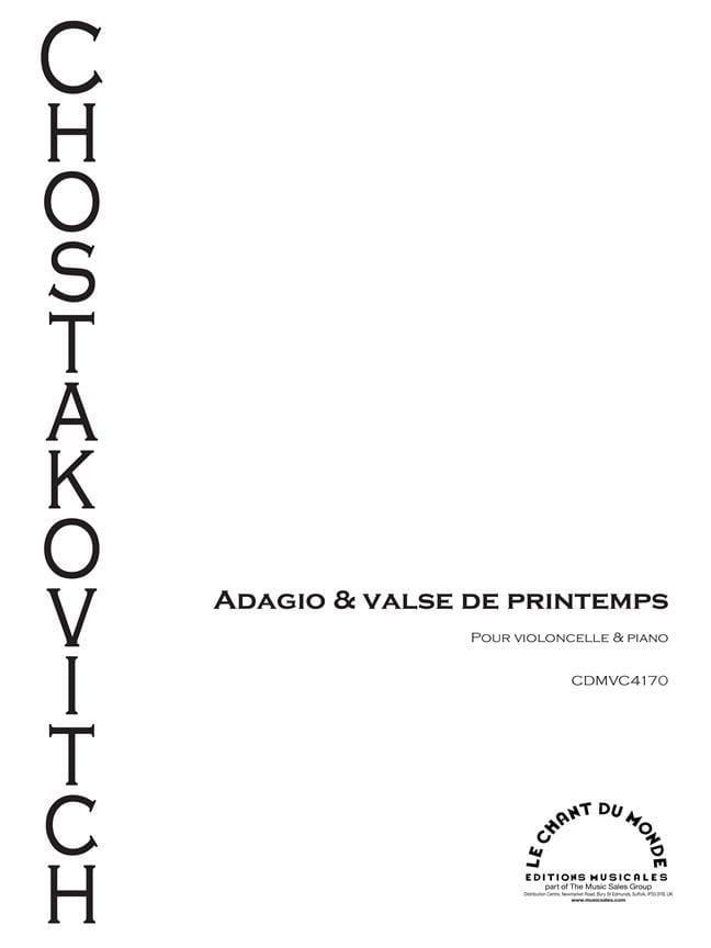 CHOSTAKOVITCH - Adagio - Spring Waltz - Partition - di-arezzo.co.uk