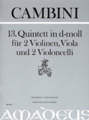 Quintette Nr. 13 En Ré Min. - laflutedepan.com