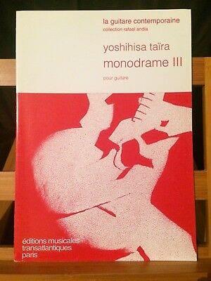 Monodrame 3 - Yoshihisa Taira - Partition - Guitare - laflutedepan.com