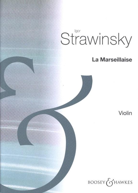 La Marseillaise - STRAVINSKY - Partition - Violon - laflutedepan.com