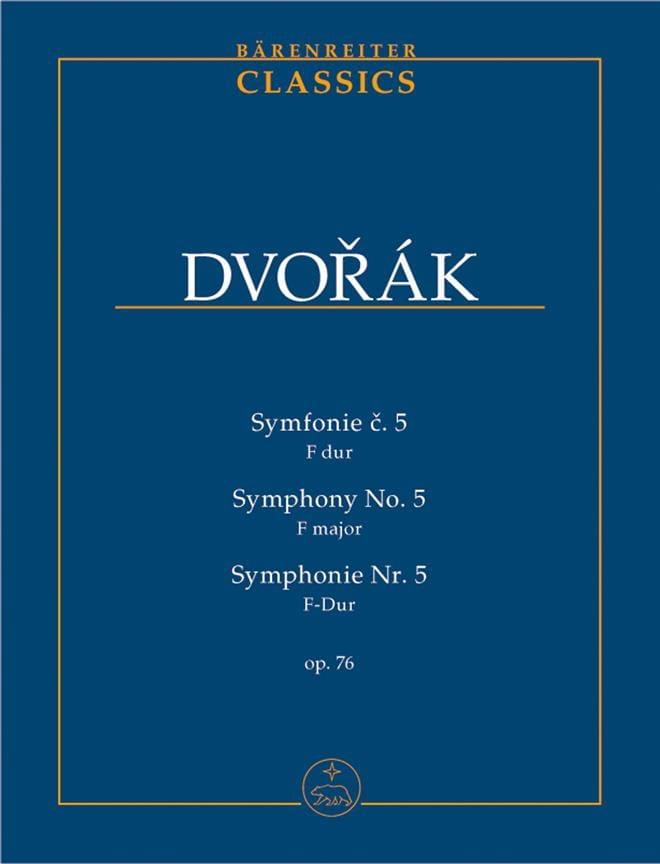 Symphonie Nr. 5 - Partitur - DVORAK - Partition - laflutedepan.com