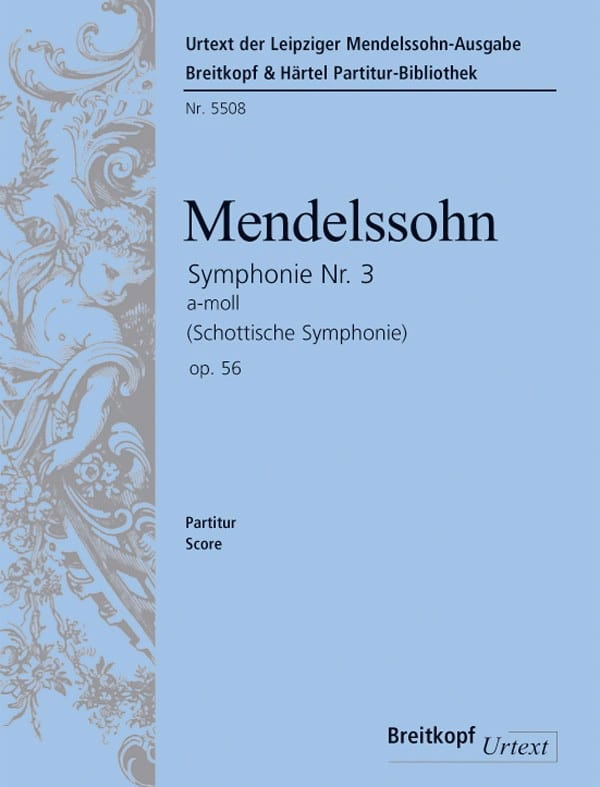 Symphonie N° 3 Op 56 En la Min. - MENDELSSOHN - laflutedepan.com