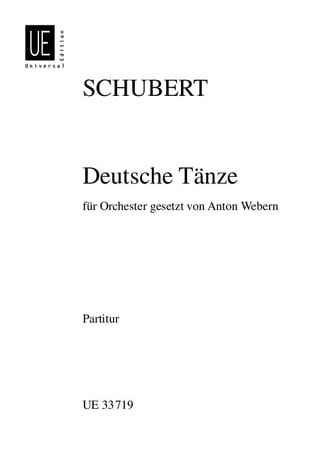 Deutsche Tänze Op. Post. D 820 - SCHUBERT - laflutedepan.com
