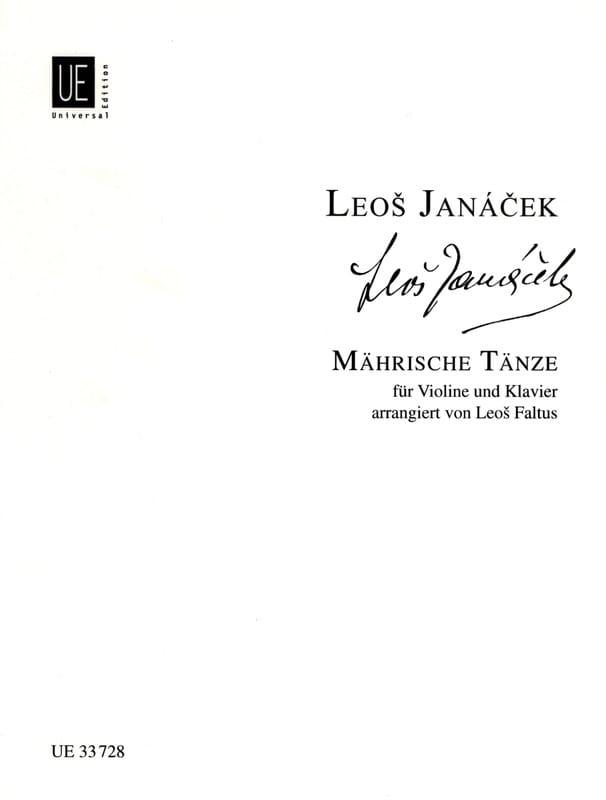 Leos Janacek - Mährische Tänze - Partition - di-arezzo.es