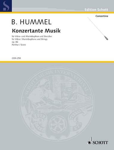 Konzertante Musik op. 86 - Partitur - HUMMEL - laflutedepan.com