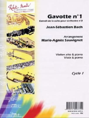 BACH - Gavotte n ° 1 Orch Suite. n ° 3 - viola and piano - Partition - di-arezzo.co.uk