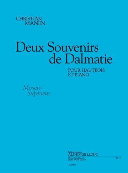 2 Souvenirs De Dalmatie - Christian Manen - laflutedepan.com