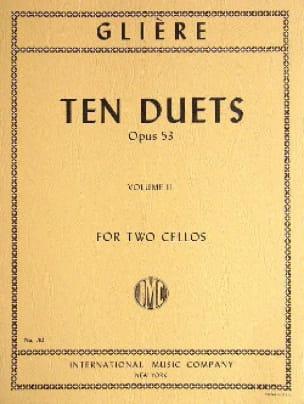 Ten Duets Op.53 Vol.2 - Reinhold Glière - Partition - laflutedepan.com