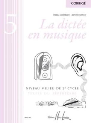 La Dictée en Musique - Corrigé - Volume 5 - laflutedepan.com