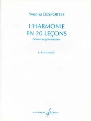 Yvonne Desportes - Harmony In 20 Lessons - Achievements - Partition - di-arezzo.com