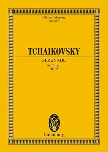 TCHAIKOVSKY - Serenade C-Dur, op. 48 - Partitur - Partition - di-arezzo.co.uk