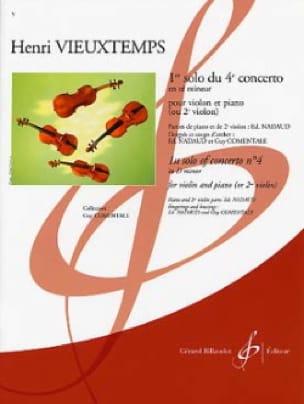 Henri Vieuxtemps - 1st Solo of the 4th Concerto In Re Min. - Partition - di-arezzo.com