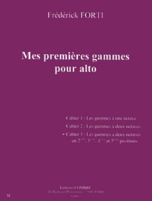 Frédérik Forti - Mis primeros rangos para Alto Volume 3 - Partition - di-arezzo.es