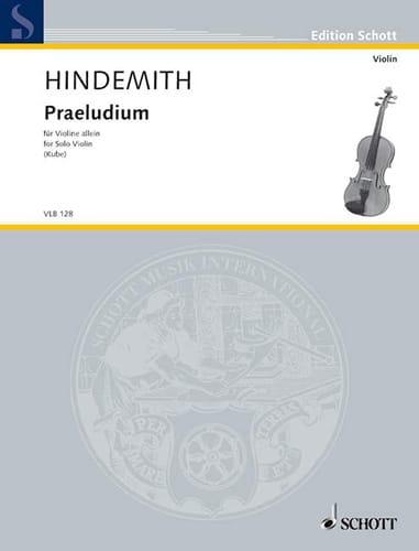 Praeludiul - HINDEMITH - Partition - Violon - laflutedepan.com
