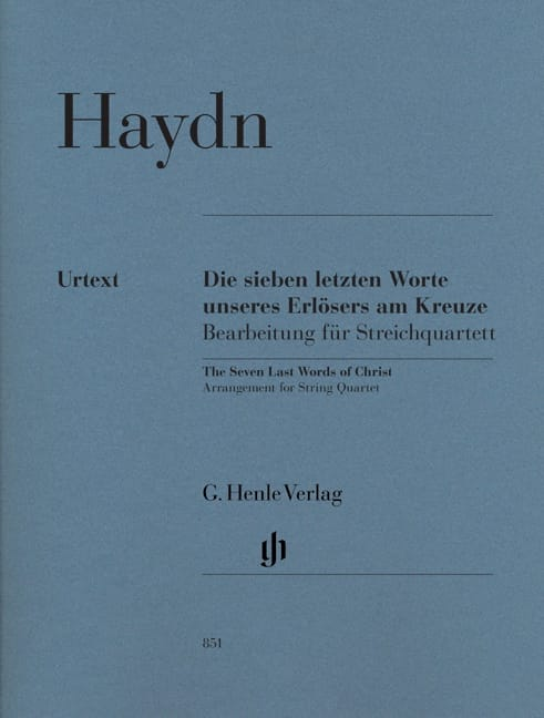 HAYDN - The last seven words of our Redeemer on the cross - Partition - di-arezzo.co.uk