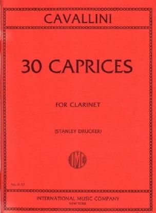Ernesto Cavallini - 30 Caprices For Clarinet - Partition - di-arezzo.co.uk
