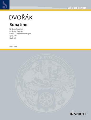 Sonatine En Sol Maj. Op.100 - DVORAK - Partition - laflutedepan.com