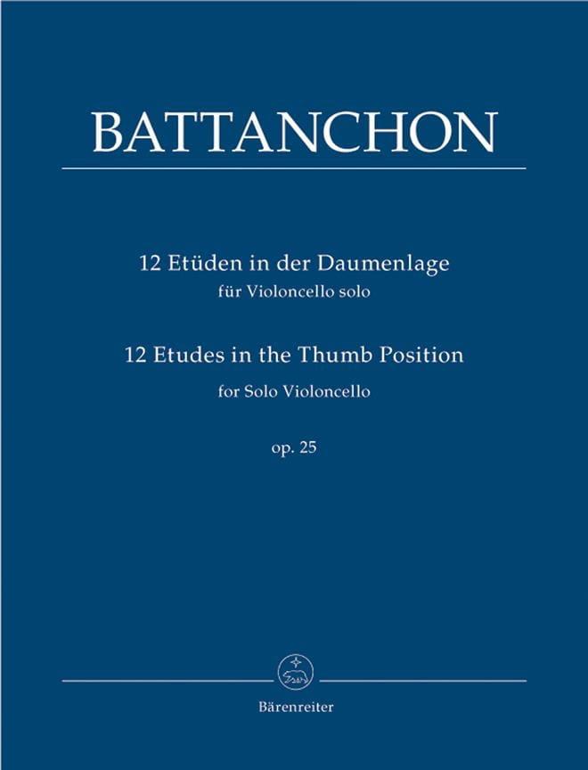 Félix Battanchon - 12 Studies In The Thumb Position Op.25 - Partition - di-arezzo.com
