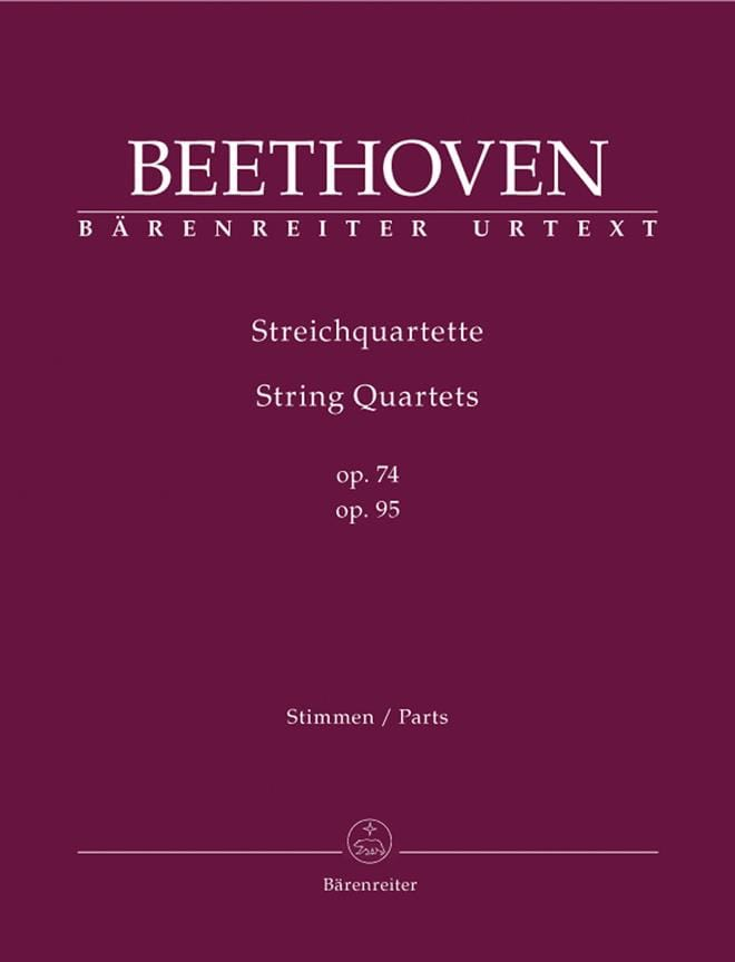 BEETHOVEN - String Quartets Op.74 - 95 - Partition - di-arezzo.co.uk