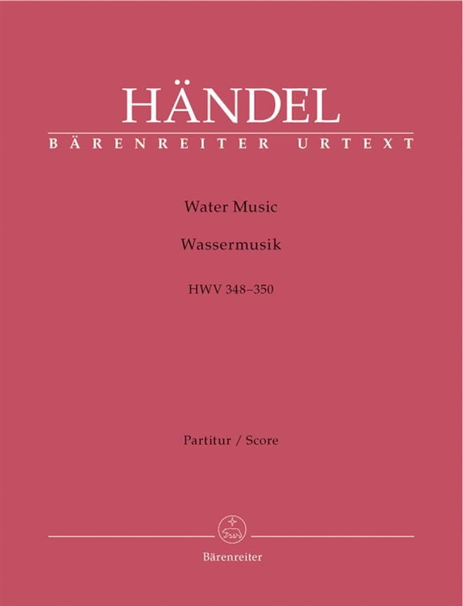 HAENDEL - Water Music HWV 348-350 - Partition - di-arezzo.fr
