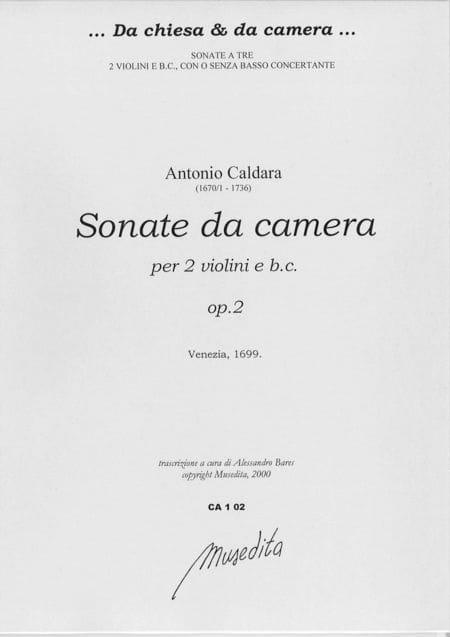 Sonate da camera op. 2 - Antonio Caldara - laflutedepan.com