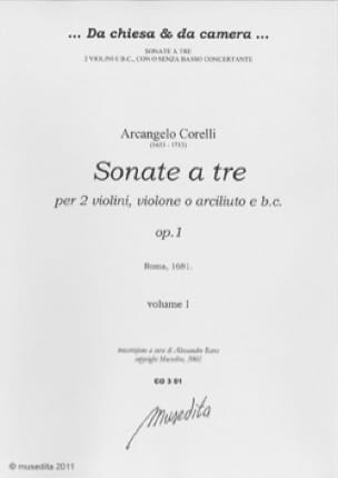 Sonate a tre op. 1 - CORELLI - Partition - Trios - laflutedepan.com